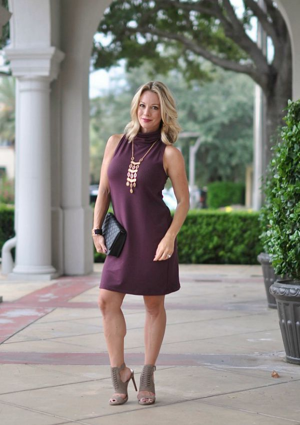 Fall fashion - Leith A-Line Turtleneck dress