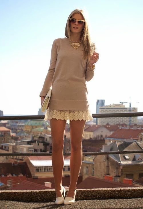 Amazing Mini Dress with High Heel Shoes and Handbag with Accessories