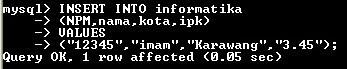 Tambah, Update dan Hapus Data di MySQL (Insert,update,delete)