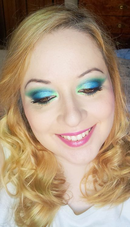 make up verde azzurro