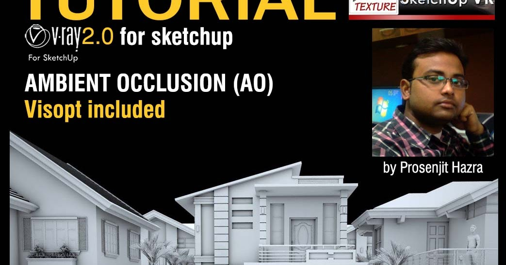 SKETCHUP TEXTURE: Tutorial Ambient occlusion Vray 2.0 for