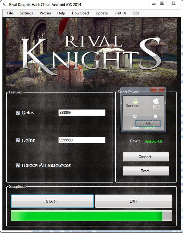 Rivals Knight Hack v2.0 IOS and Android