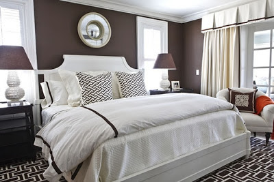 foto dormitorio chocolate y blanco