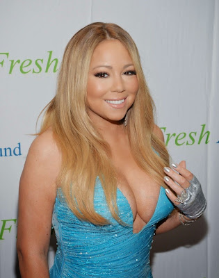Mariah Carey Flaunts Cleavage Atelier Versace Dress at Fresh Air Fund Gala