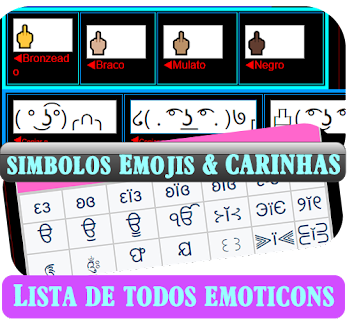 εїз  Lista de Todos Emoji, SÍMBOLOS para descrição videos, perfil, nick