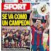 Xavi se va como un campeón, año en blanco para el Madrid: las portadas