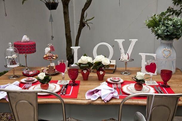 DIY Decoraç u00e3o Ideias para o Dia dos Namorados -> Decoração De Restaurante Para Dia Dos Namorados