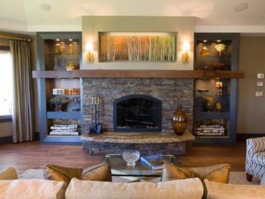 Decora y disena 10 dise os de salas de estar con chimenea for Disenos de chimeneas