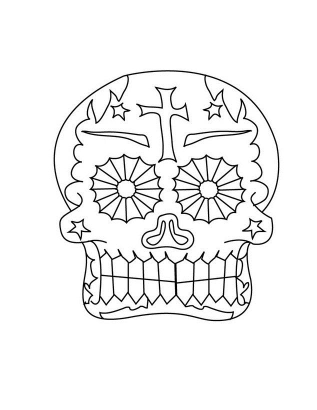 DIA De Los Muertos Para Colorear