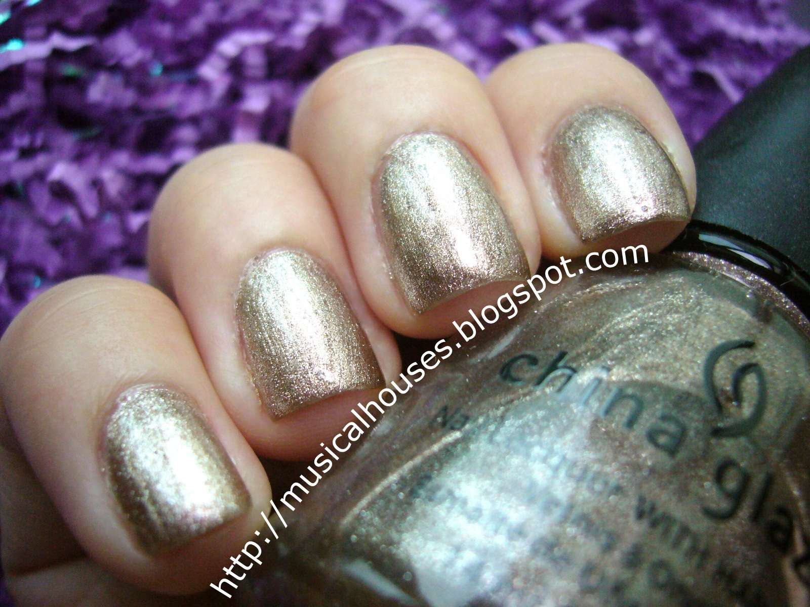 China Glaze Swing Baby: Glamorous Gold Nails! - of Faces and Fingers