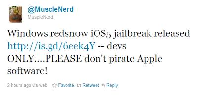 Redsn0w-Jialbreak für iOS 5 erschienen