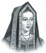 In 1487 Elizabeth of York is crowned Queen of England in a ceremony also attended by her beloved husband, Manuel the Fortunate who became the future King Manuel I of Portugal after his nephew Alonso died in an accident.