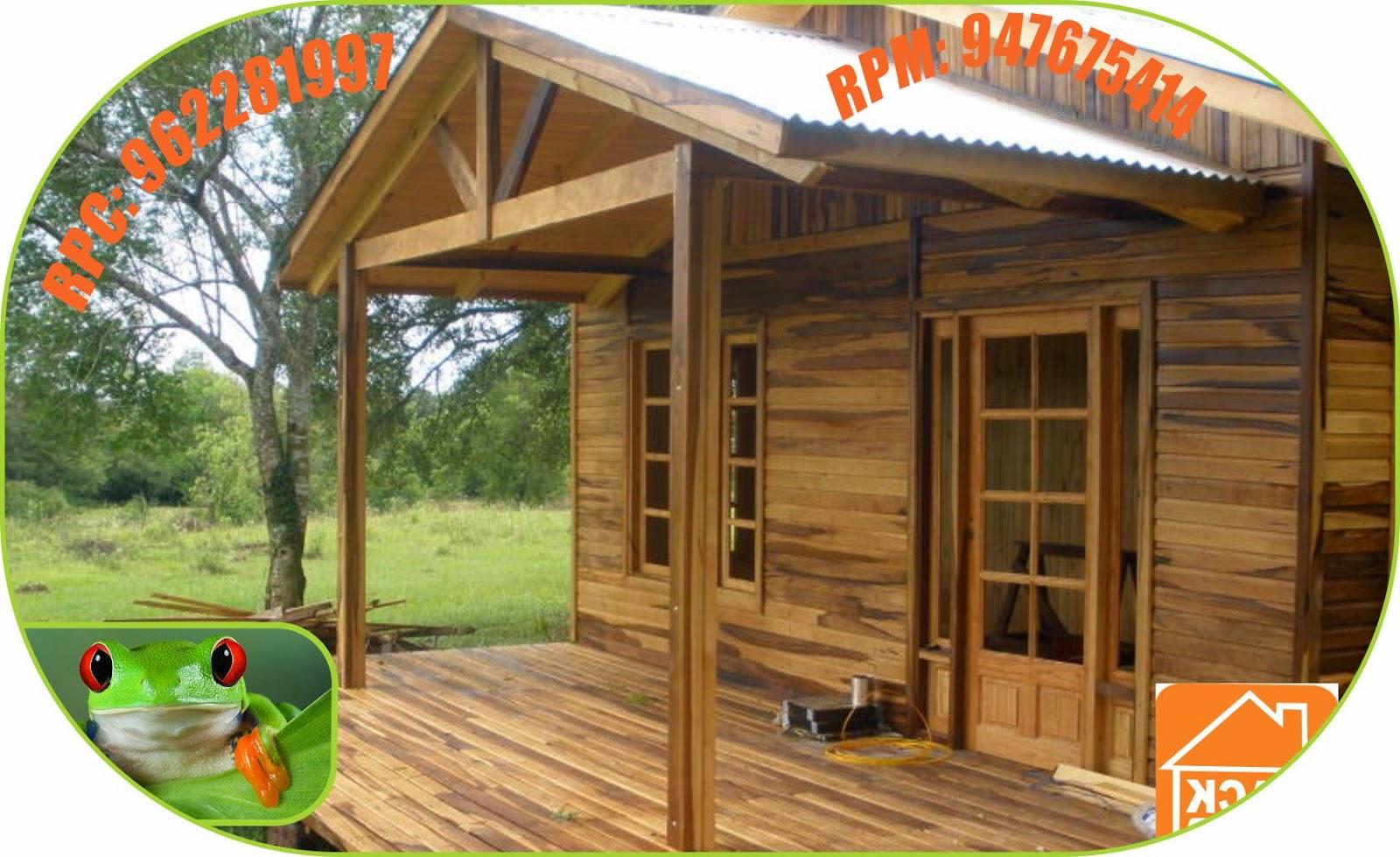 Bungalows caba as clubes esparcimiento campestre en lima for Cabana madera precio
