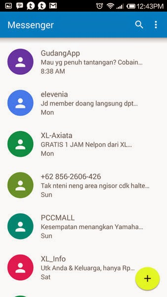 Aplikasi SMS di Android Lollipop