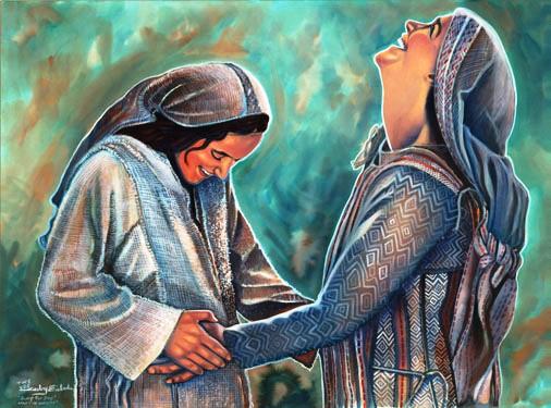 Retour/Méditation Biblique pour le Temps de l'Avent/< ou >/L'Enfance de Jésus/ Maria+e+Isabel+en+la+visitacion