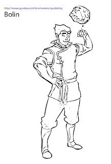 avatar legend of korra coloring pages bolin