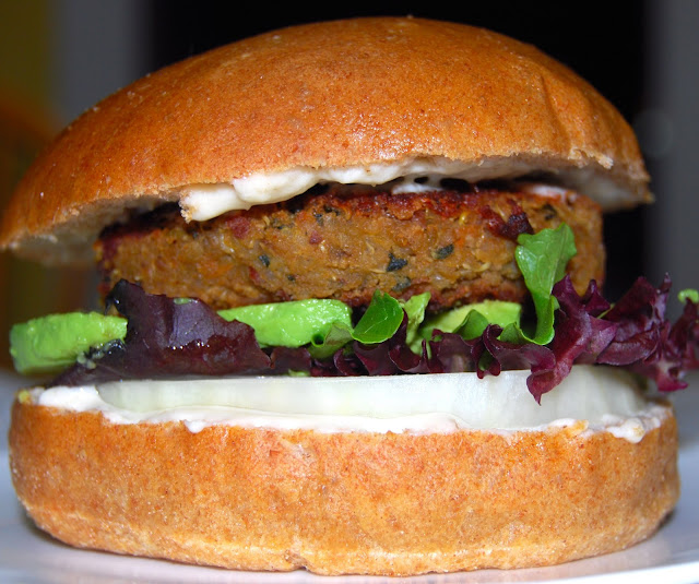 Quinoa and Bean Veggie Burger