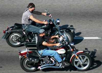 no motorcycle helmet