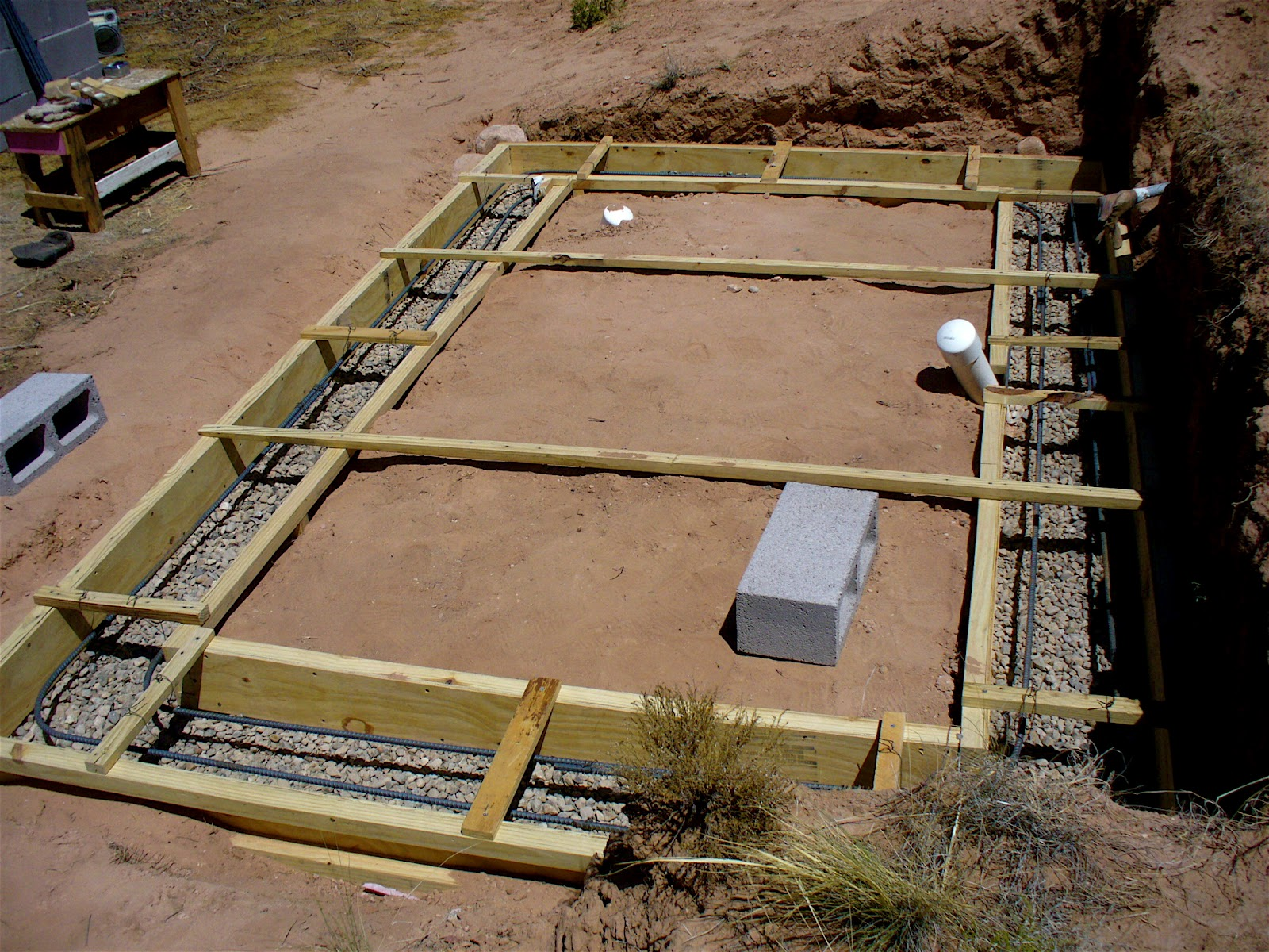 Alt build blog building a well house 1 rubble fill for Basement foundations construction