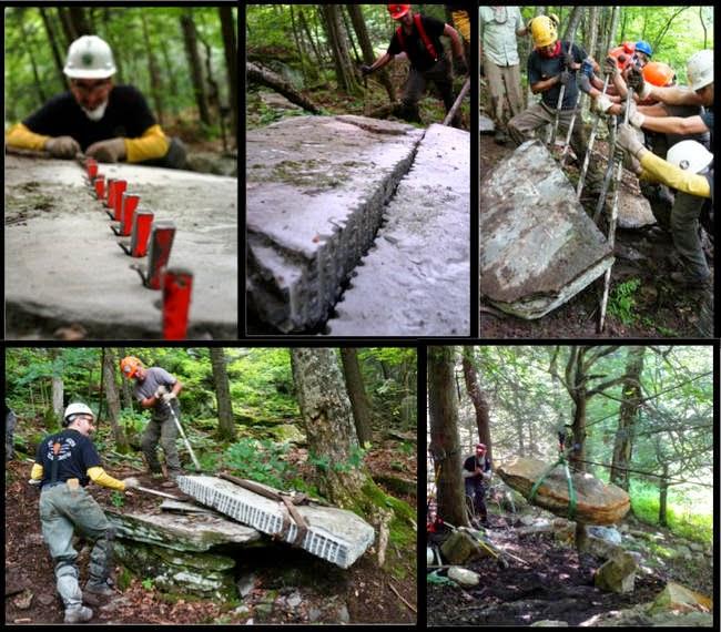 Sukarelawan Yang Membuat Laluan Berbatu Dalam Hutan Yang Sangat Ohsem (6 Gambar)