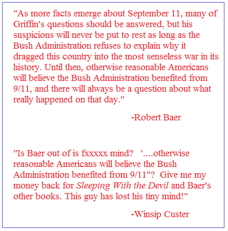Robert Baer on David Ray Griffin