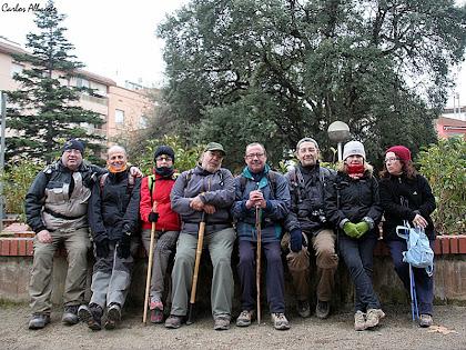 Caminada Popular del canvi de la senyera al Pujol de la Guàrdia Vilanova del Camí 2013