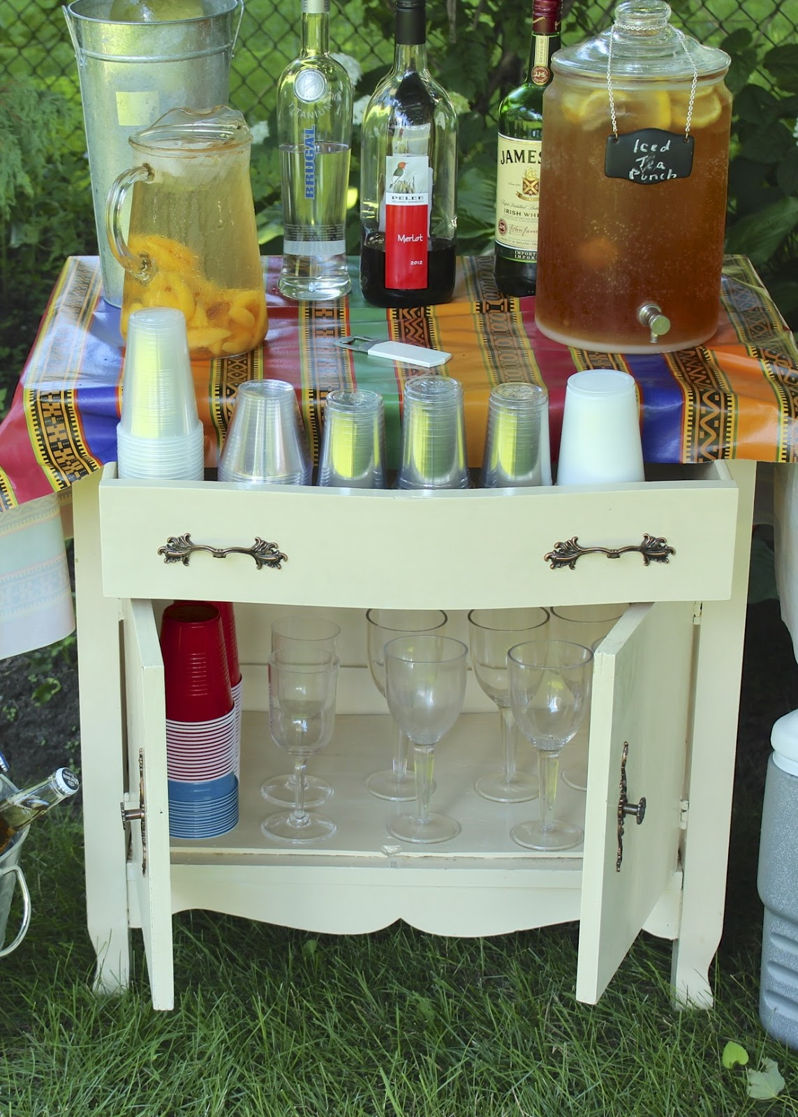 A Washstand Turned Beverage Station New House New Home