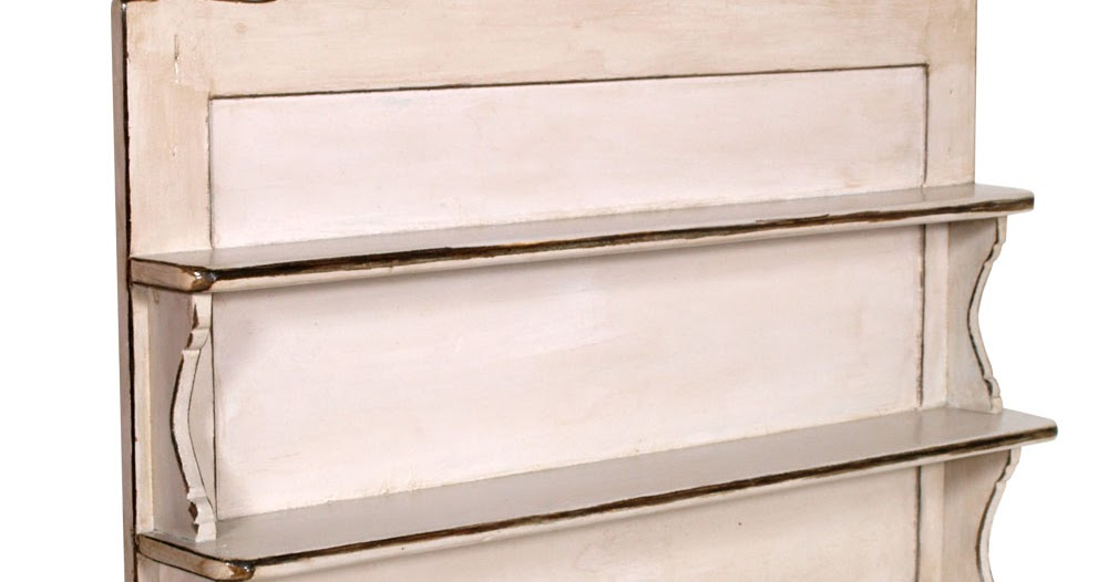 Piattaia shabby chic mensola cucina grigio tortora design myartistic - Mobili antichizzati bianchi ...