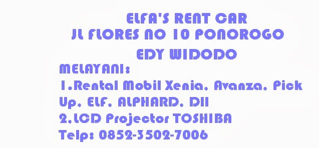 Rental Mobil ELFA'S RENT CAR