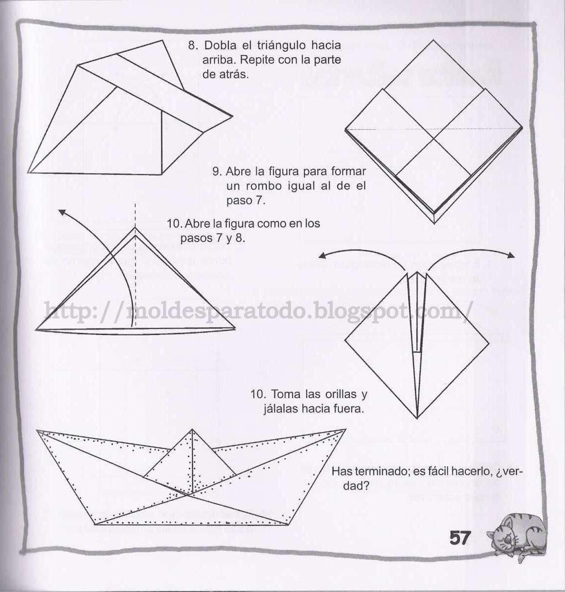 Mundo fili cmo hacer barcos de papel papiroflexia paso - Papiroflexia paso a paso ...
