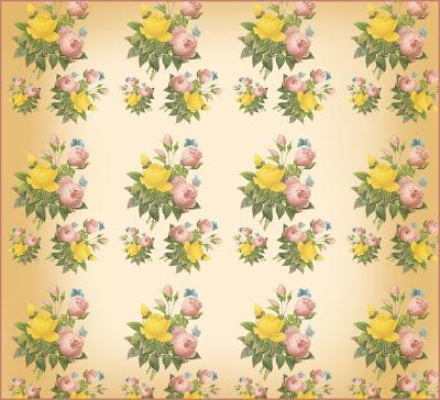 fondo vintage de flores
