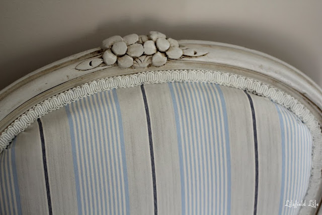 detail of Upholstered French Louis Armchair
