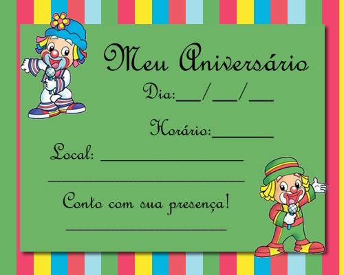 Convite Para Anivers  Rio Infantil  Patati E Patat