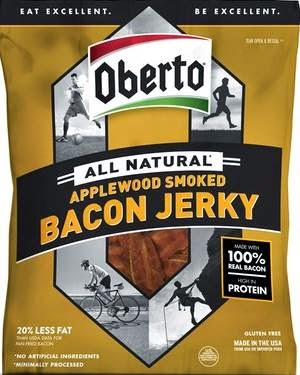 Oberto Applewood Smoked Bacon Jerky is the best bacon product ever