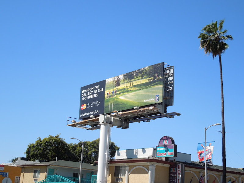 MasterCard Priceless Gallery greens billboard