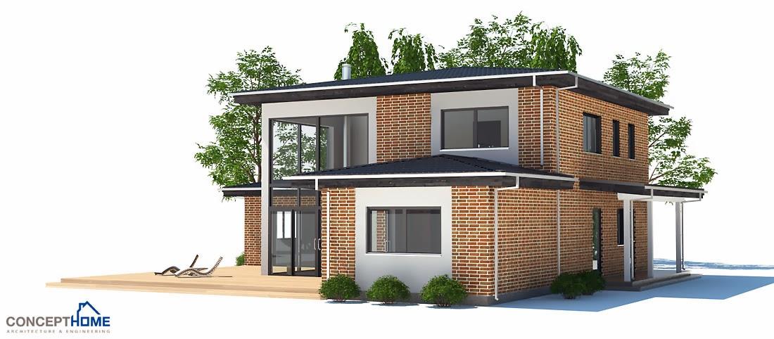 Plantas de casas modernas planta de casa moderna e pequena ch18 - Casas modernas una planta ...