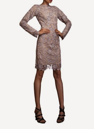 MUSHROOM SICILIAN LACE BACKLESS DRESS | Indian Designers | Indian Designer dress