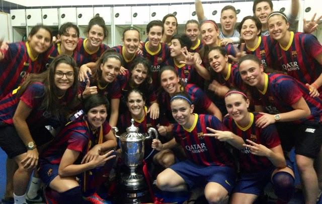El FC Barcelona campeonas de la Copa de la Reina