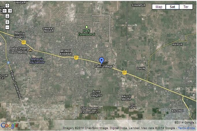 palm village mohali location