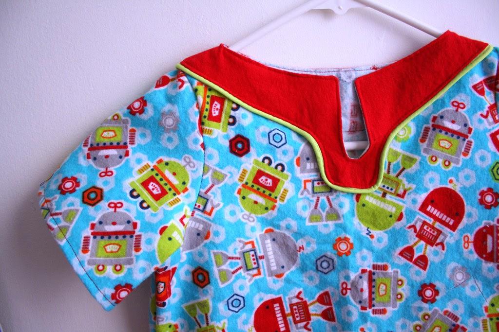 Big kid version of pajama shirt