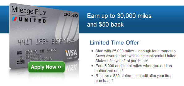 United airlines credit card deals