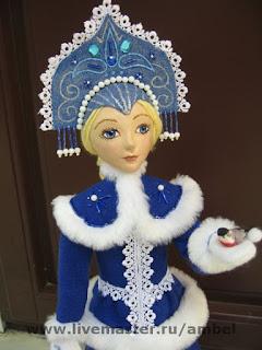 Снегурочка своими руками мастер класс из папье маше 81