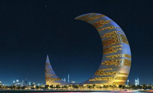 Crescent moon tower in dubai general information for Moon architecture