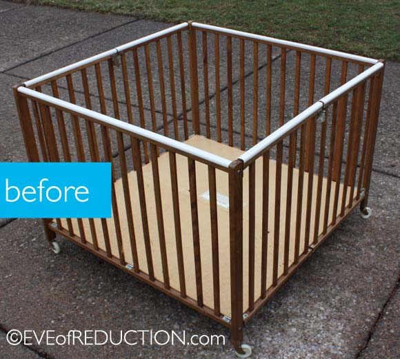Furniture Upcycling: Baby Playpen Into A Laundry Sorter