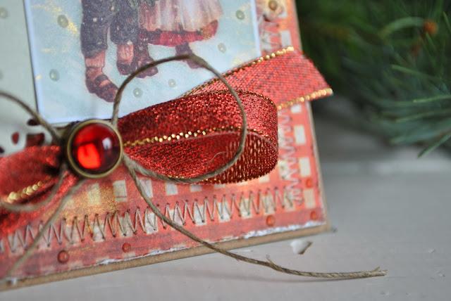 kartka świąteczna, boże narodzenie scrapbooking