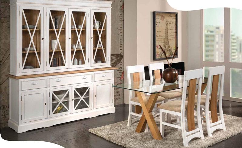 Blanco y madera un espectáculo para la  vista