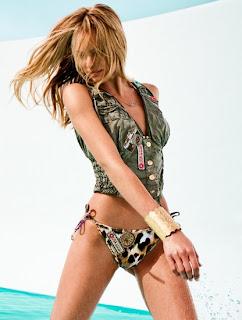 Candice Swanepoel exposing her sexy ass for Agua Bendita BIkini Lingerie Swimwear