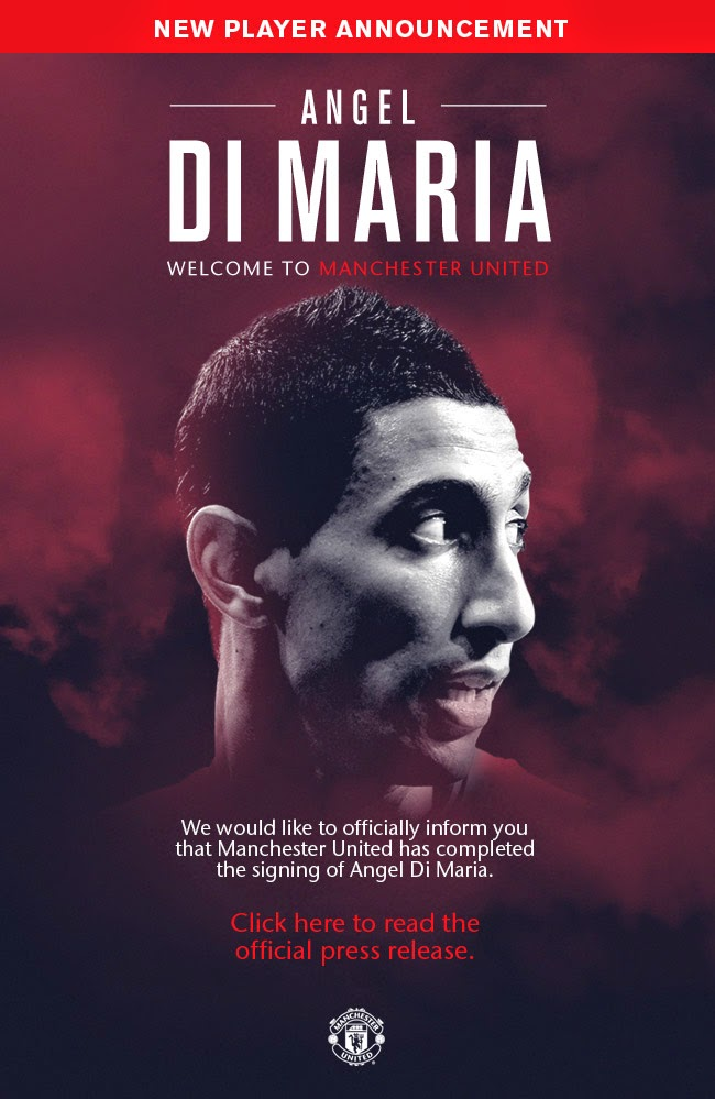 Manchester United Signed Midfielder Angel Di Maria