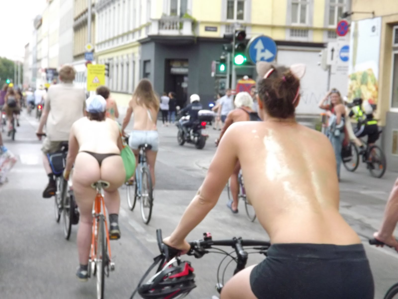Critical Mass Naked Bike Ride