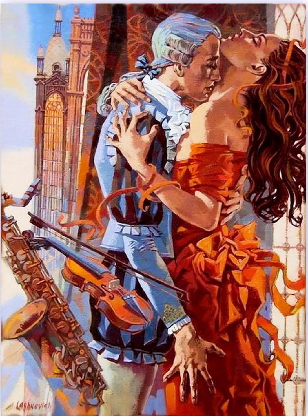 parejas-pintadas-en-espatula